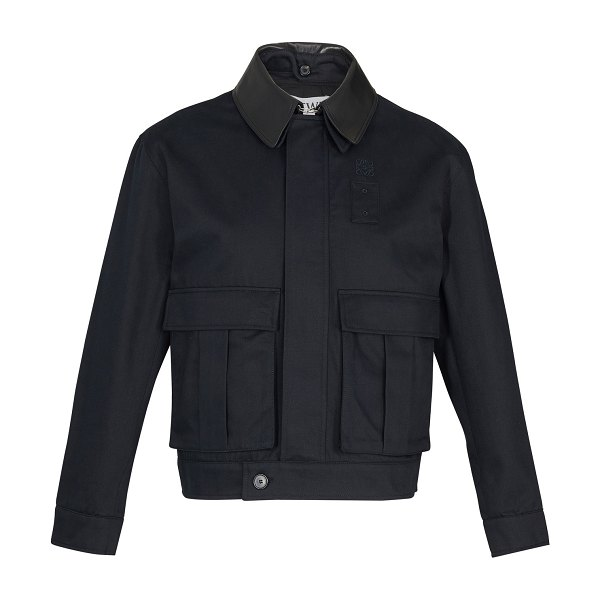 Loewe Jacket with pockets in navy/blue
