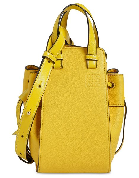 Loewe Mini hammock leather bag in yellow