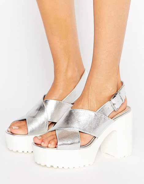 LONDON REBEL Platform Unit Sandal - Shoes by London Rebel, Faux-leather upper, Ankle-strap...