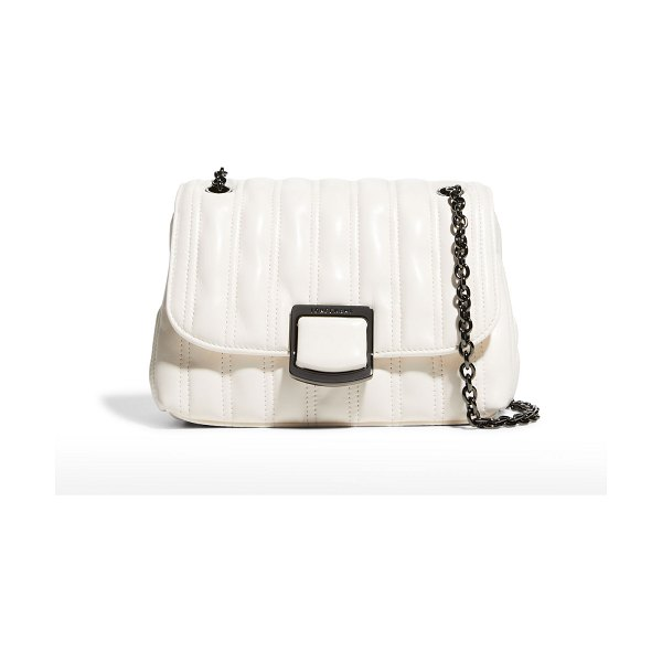 Longchamp Brioche Small Quilted Lambskin Crossbody Bag in ivory