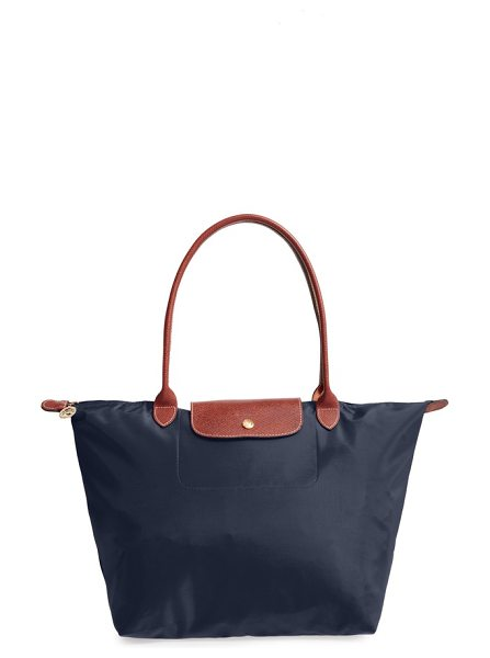 Longchamp large le pliage tote in new navy