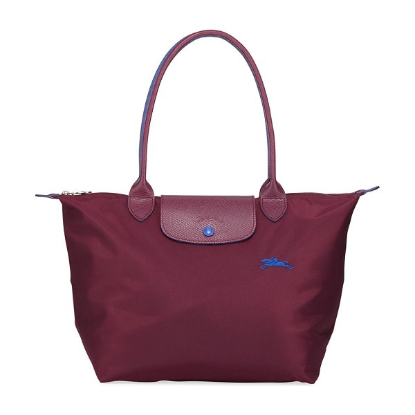 Longchamp Le Pliage Club Medium Shoulder Tote Bag in plum