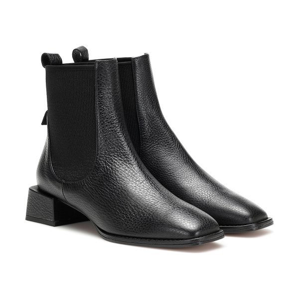 LOQ ottavia leather ankle boots in black
