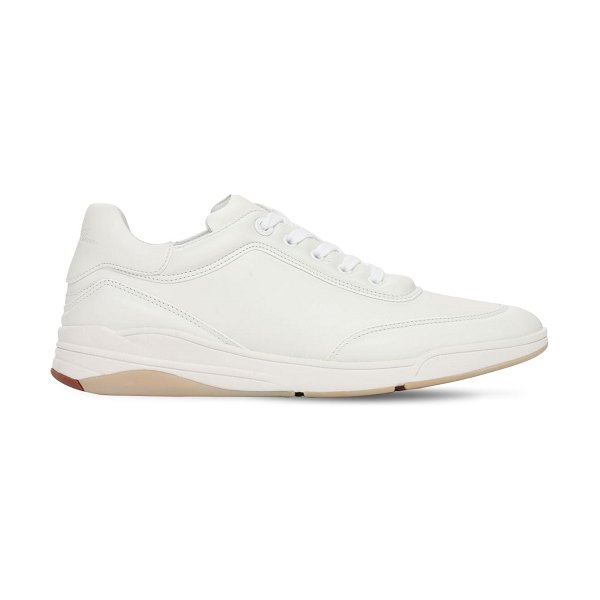 Loro Piana 20mm play leather sneakers in white