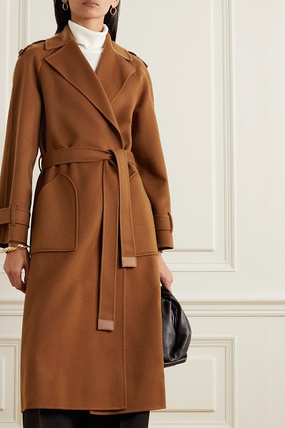 Loro Piana belted cashmere trench coat in camel