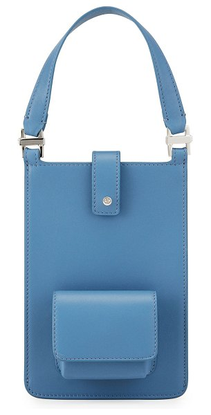 Loro Piana Forget Me Not Leather Crossbody Bag in 605g roman sky