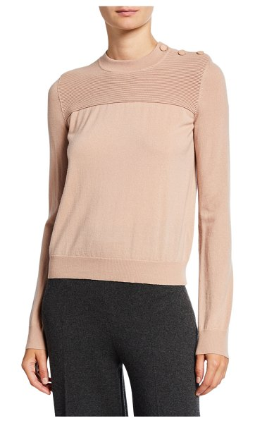 Loro Piana Kensington Cashmere Ribbed Sweater in light pink