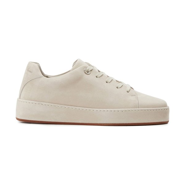 Loro Piana Leather trainers in beige