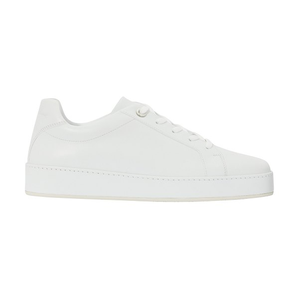 Loro Piana Leather trainers in white