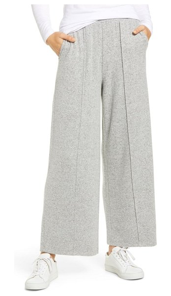 LOU & GREY brushed wide leg pants in grey marl
