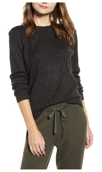 LOU & GREY carly cozy sweatshirt sweater in black