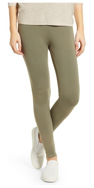LOU & GREY essential high waist terry leggings in desert grass