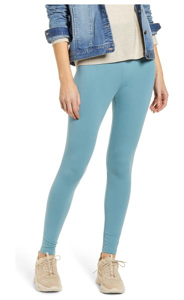 LOU & GREY essential high waist terry leggings in faded aqua