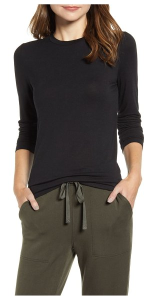 LOU & GREY softened jersey layering tee in black