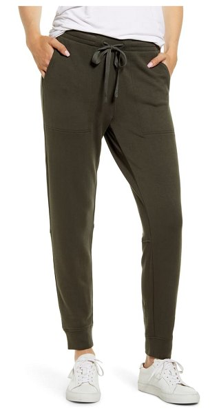 LOU & GREY zen bounce upstate sweatpants in harvest green
