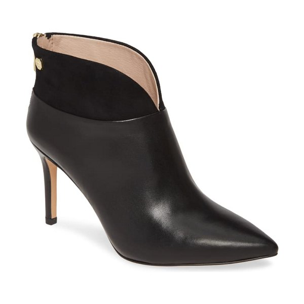 Louise et Cie sana bootie in black leather/ suede