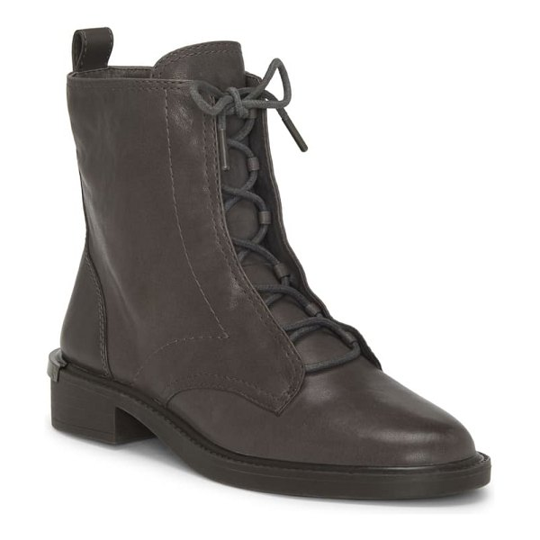 Louise et Cie tess lace-up boot in storm grey leather