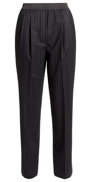 Loulou Studio moretta pinstripe pull-on pants in black stripes