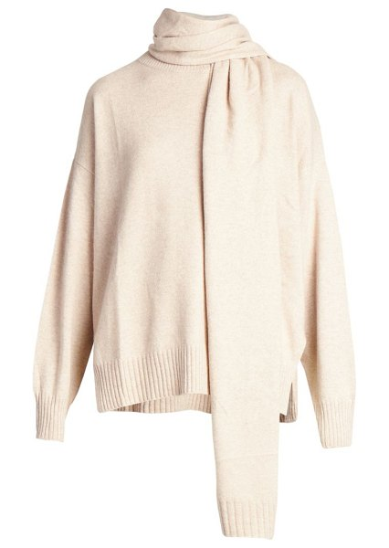 Loulou Studio spano scarves cashmere sweater in chocolate,beige melange