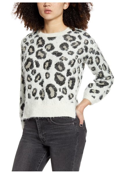 Love By Design animal pattern sweater in cream/ black/ gold