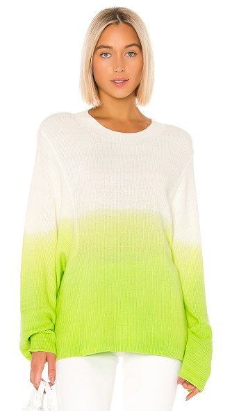 Lovers + Friends andie sweater in cream & green ombre
