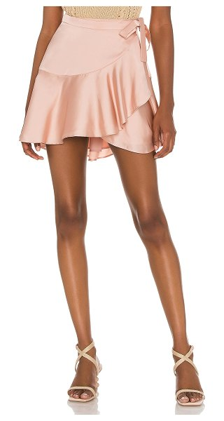 Lovers + Friends angela skirt in blush pink