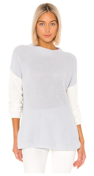 Lovers + Friends dalton sweater in grey & white