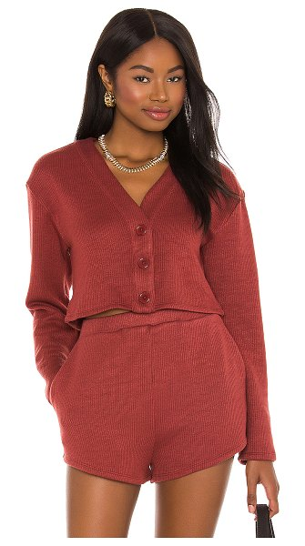 Lovers + Friends darby cardigan in wine red