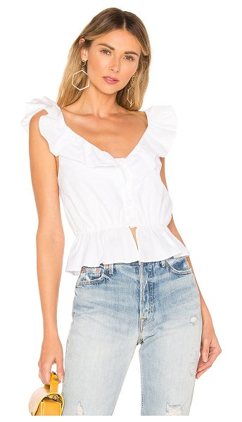 Lovers + Friends gia top in white
