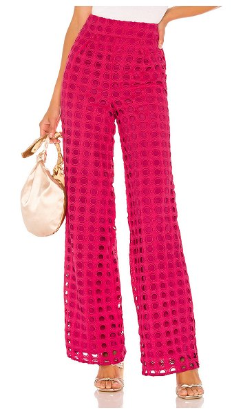 Lovers + Friends haley pant in magenta