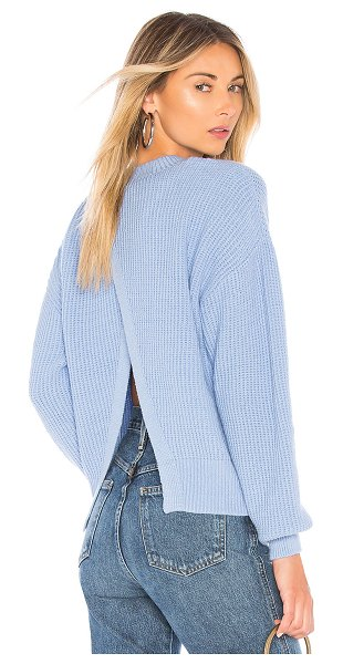 Lovers + Friends Joan Sweater in blue - Offer up an unexpected hint of skin with each turn in...