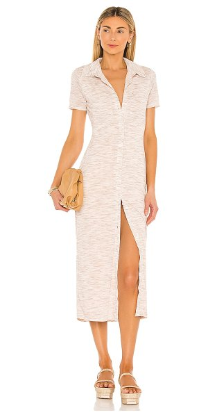 Lovers + Friends kayce midi dress in marled natural