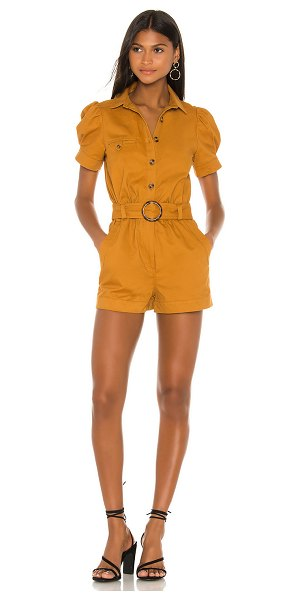 Lovers + Friends miles romper in camel brown