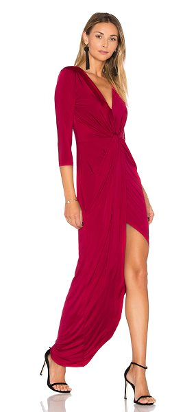 Lovers + Friends sundance maxi in raspberry