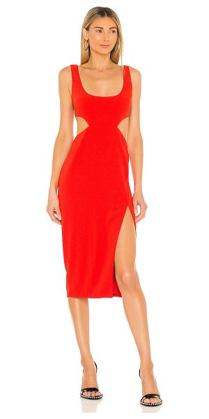 Lovers + Friends titus midi dress in red