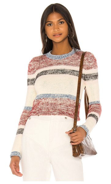 Lovers + Friends wesley pullover in berry stripe