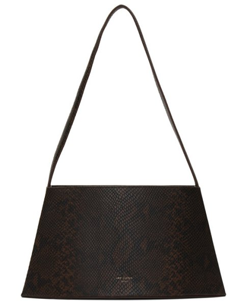LOW CLASSIC brown and black python curve bag in brg burgund