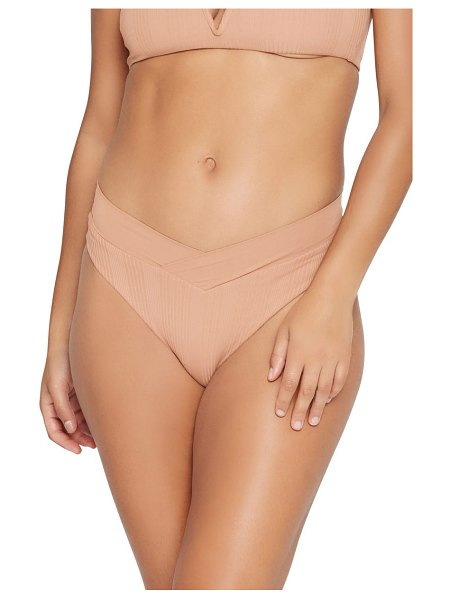 L*Space court bitsy ribbed bikini bottoms in putty