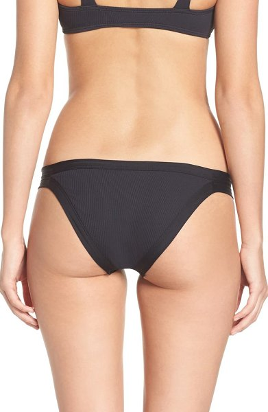 L*Space ridin' high charlie classic ribbed bikini bottoms in black