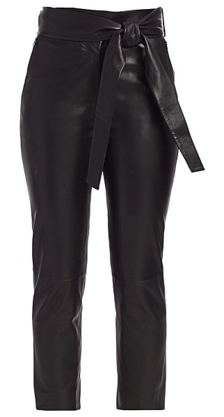 LTH JKT bea leather cropped pants in navy