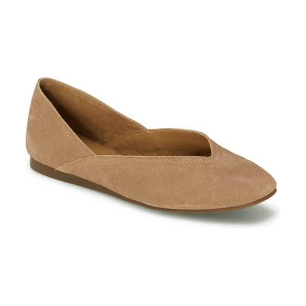 Lucky Brand alba skimmer in macaroon leather