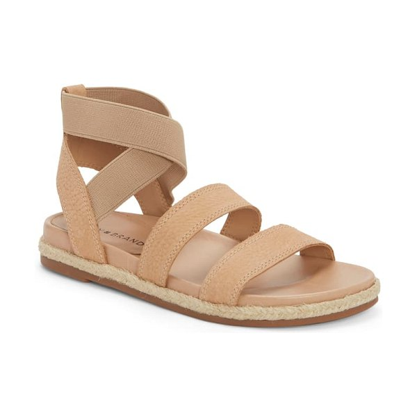 Lucky Brand dilane espadrille sandal in stone leather