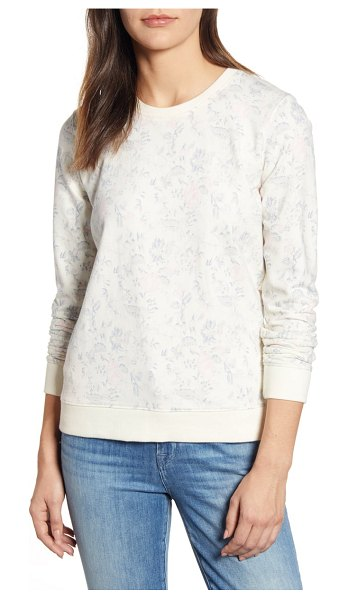 Lucky Brand floral sweatshirt in cream multi