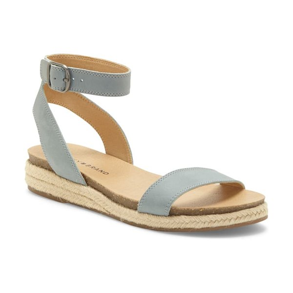 Lucky Brand garston espadrille sandal in lead leather