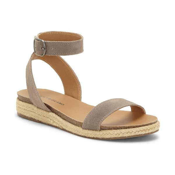 Lucky Brand garston espadrille sandal in brindle suede