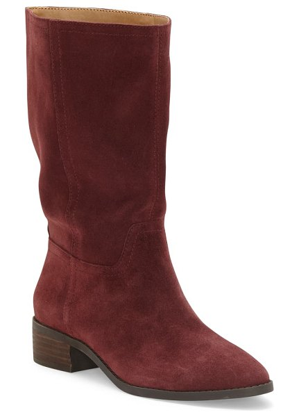 Lucky Brand lefara boot in sugar red suede