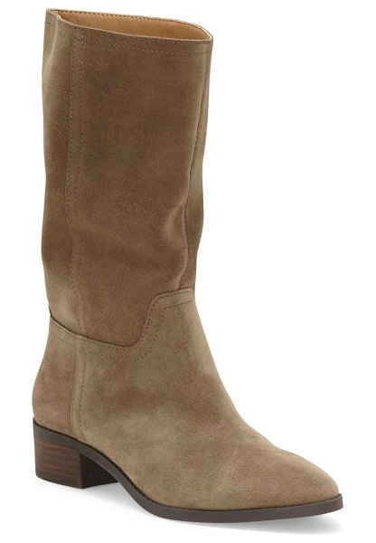 Lucky Brand lefara boot in antique green suede