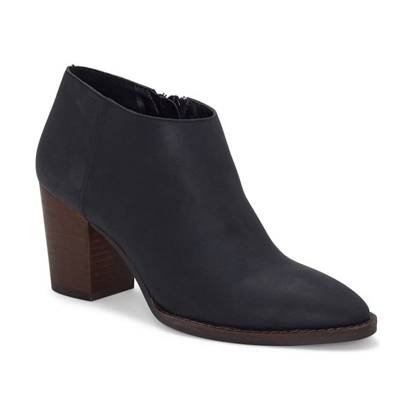 Lucky Brand pamira bootie in black leather