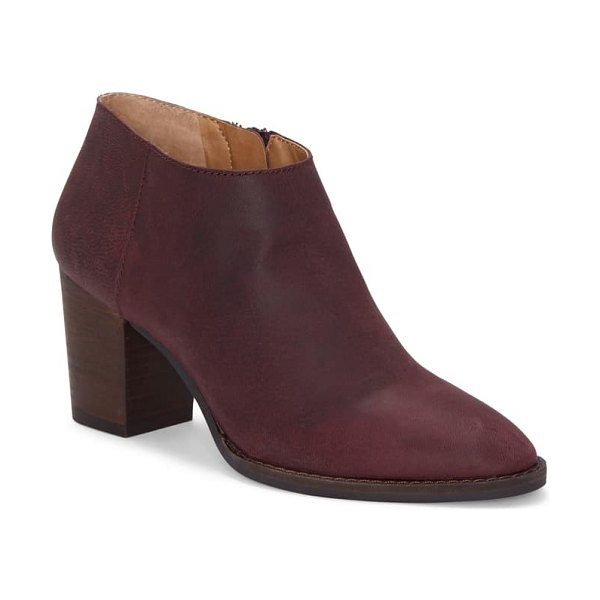 Lucky Brand pamira bootie in sugar red leather