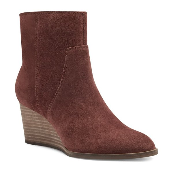 Lucky Brand wafael wedge boot in brandy suede